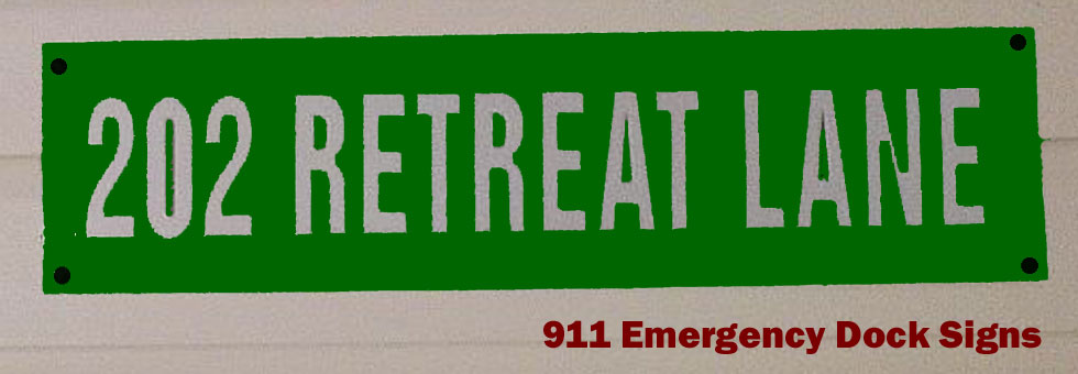911  Emergency Dock Signs